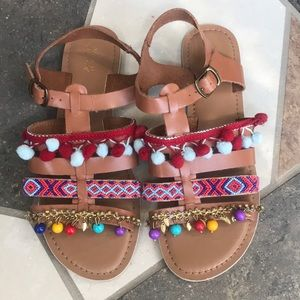 Pom Pom sandals-adorable and trendy